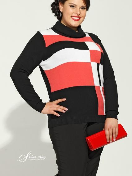 Женская одежда больших размеров - джемпер - 2484011