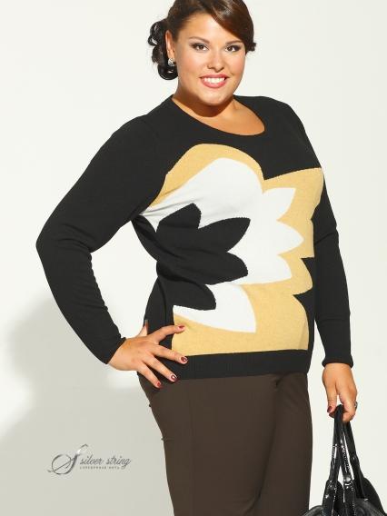 Женская одежда больших размеров - джемпер - 2474002