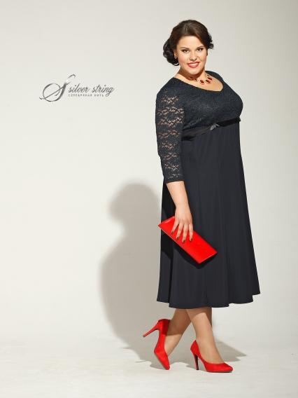 Женская одежда больших размеров - платье - 2405231