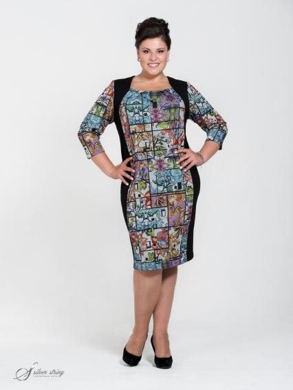 Женская одежда больших размеров - платье - 255558155