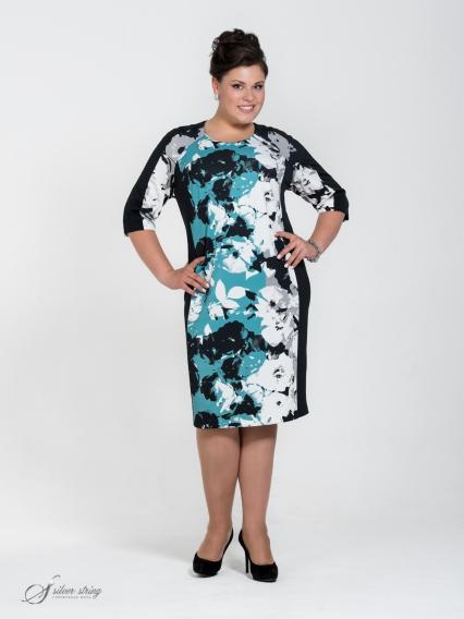 Женская одежда больших размеров - платье - 255541039